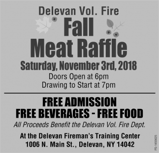 Fall Meat Raffle