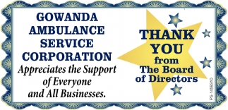 Thank You From The Board Of Directors