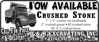Now Available Crushed Stone