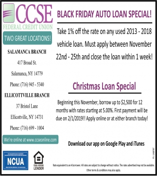 Black Friday Auto Loan Special!