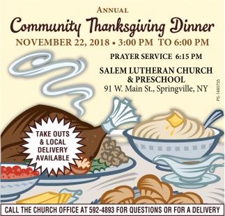 Annual Community Thanksgiving Dinner