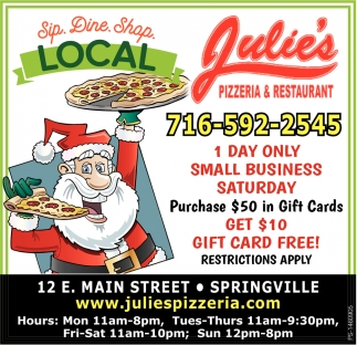 Julie S Restaurant Springville Ny