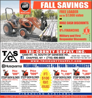Fall Savings!