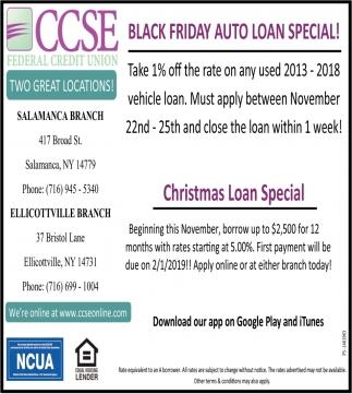 Black Friday Auto Loan Special!