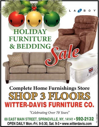 Holiday Furniture & Bedding