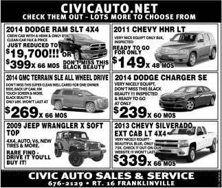 SUV'S AWD & 4DW