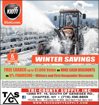 Winter Savings!