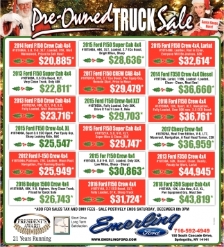 Pre-Owned Truck Sale