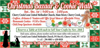 Christmas Bazaar & Cookie Walk