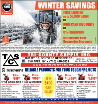 Winter Savings!