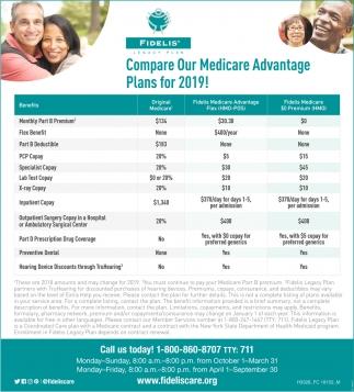 Medicare Advantage Plans For 2019, Fidelis, Rego Park, NY