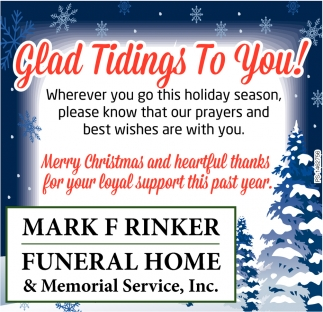 Glad Tidings To You!