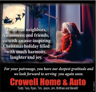 To All Our Neighbors, Customers And Friends