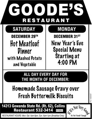 Hot Meatloaf Dinner