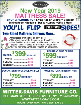 New Year 2019 Mattress Sale