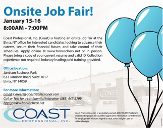 Onsite Job Fair!