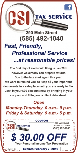Fast, Friendly, Professional Service