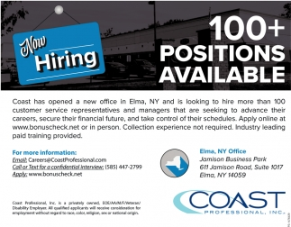 100+ Positions Available