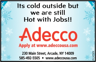 It's Cold Outside But We Are Still Hot With Jobs!