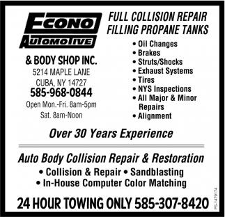 Full Collision Repair Filling Propane Tanks
