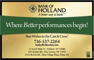 Where Better Performances