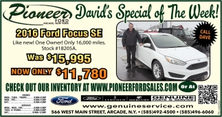 David's Special Of The Week!
