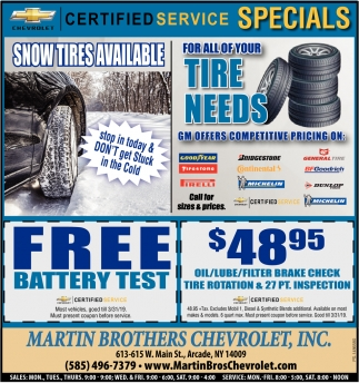 Snow Tires Available