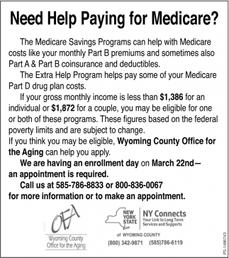 Need Help Paying For Medicare?