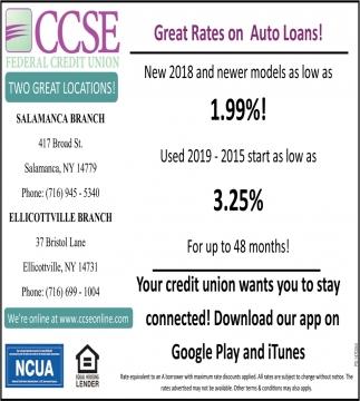 Grat Rates On Auto Loans!