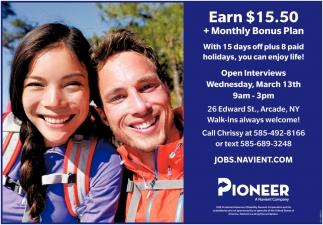 Earn $15.5 + Monthly Bonus Plan
