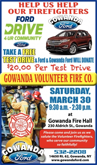 Gowanda Ford Will Donate