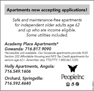 Apartments Now Accepting Applications!