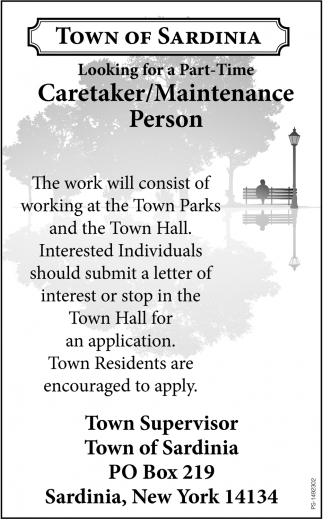 Looking For A Part Time Caretaker
