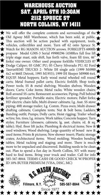 Warehouse Auction