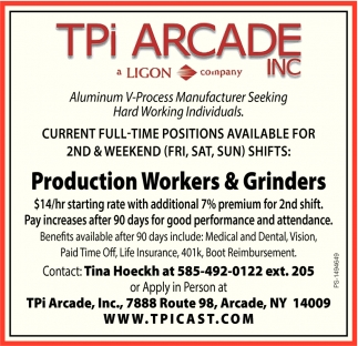 Production Workers & Grinders