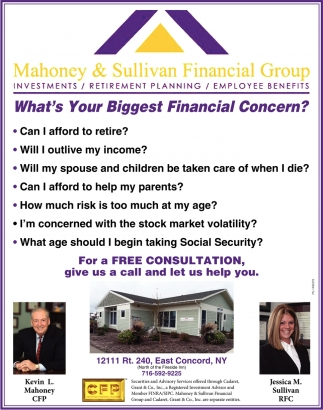 What's The Biggest Financial Concern?