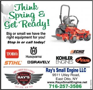 Think Spring & Get Ready!