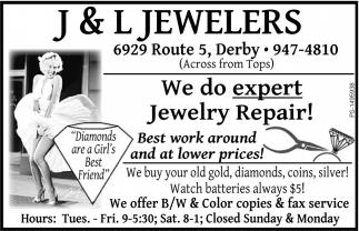 We Do Expert Jewelry Repair!