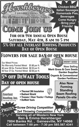 Come Join Us Hershberger Construction Metal Roofing And