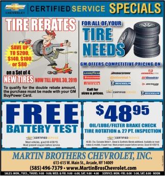 Tire Rebates
