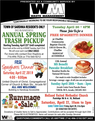 Annual Spring Trash Pickup