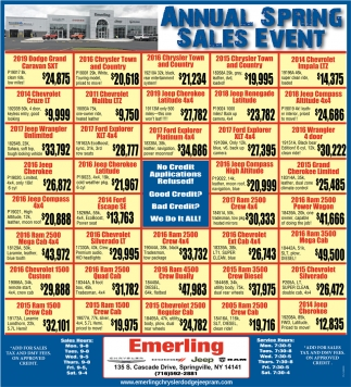 Annual Spring Sales Event