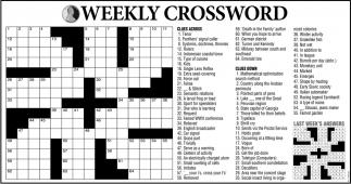 Weekly Crossword!