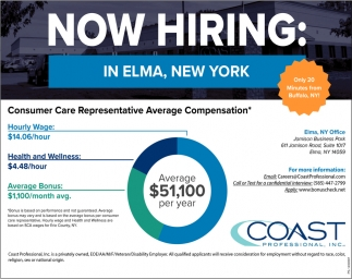 Now Hiring! In Elma, New York