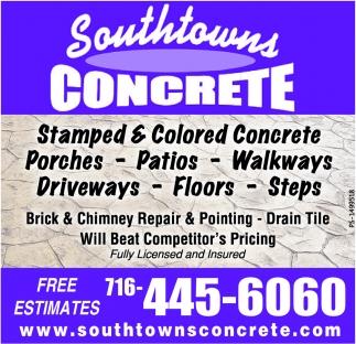 Stamped & Colored Concrete!