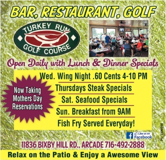 Open Daily With Lunch & Dinner