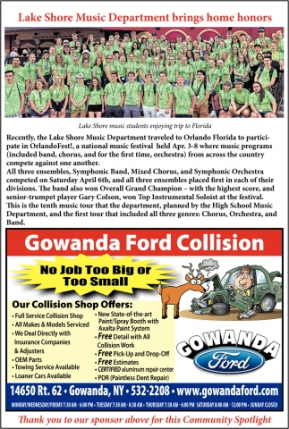 Gowanda Ford Collision