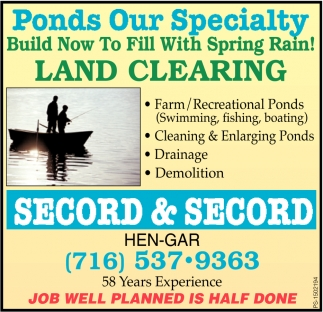 Ponds Our Specialty