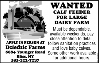 Wanted Calf Feeder