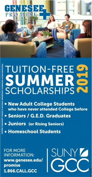 Tuition-Free Summer Scholarships 2019